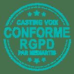 Casting voix conforme au RGPD par Mediartis