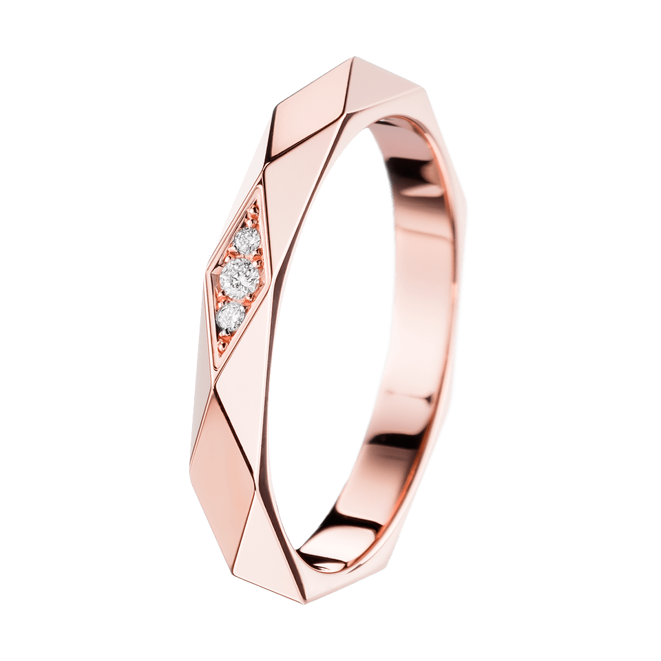 Facette Pink Gold And Diamond Wedding Band Boucheron