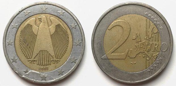 2 Euro Allemagne 2002J