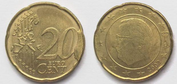 20 Cent Belgique 2002