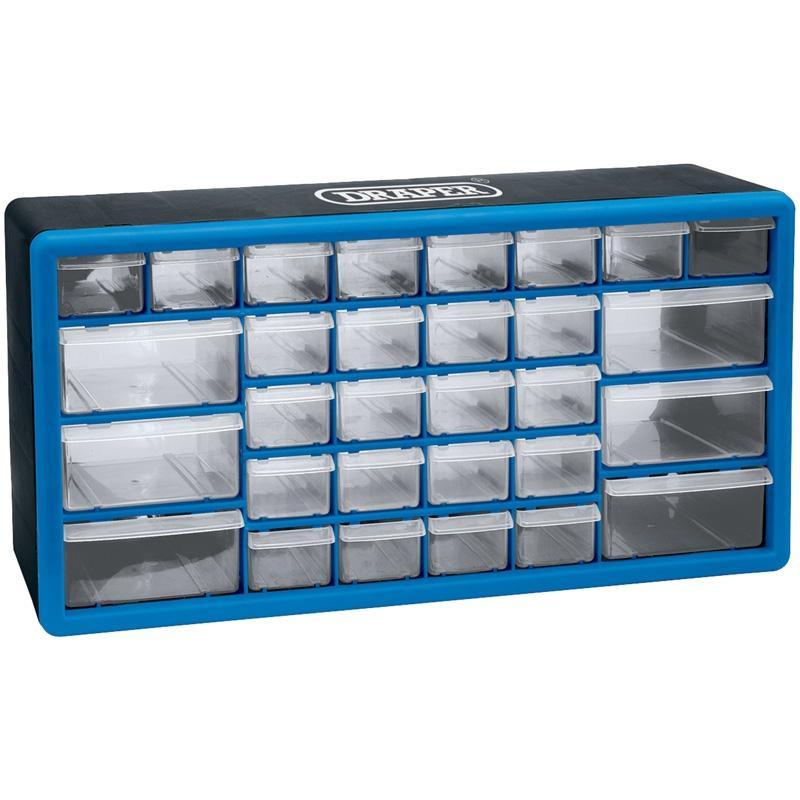 casier de rangement draper 30 tiroirs plastique