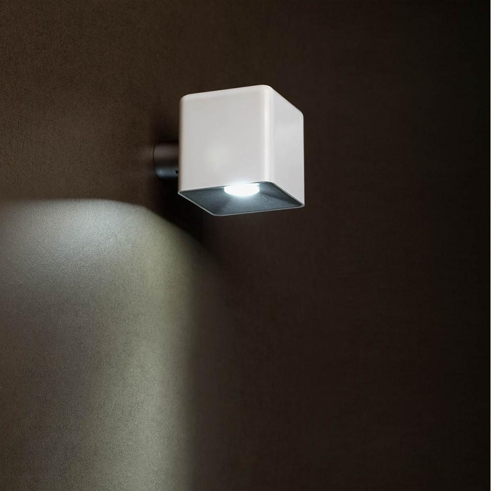 Luminaire Extrieur Mural LED Cube Blanc Design Lampe Avenue