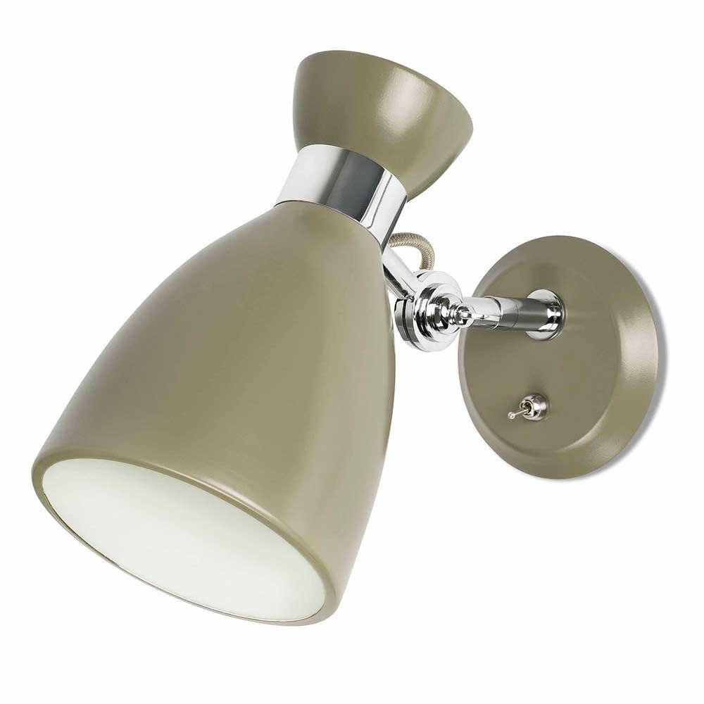 Applique Avec Interrupteur En Mtal Vert Lampe Avenue