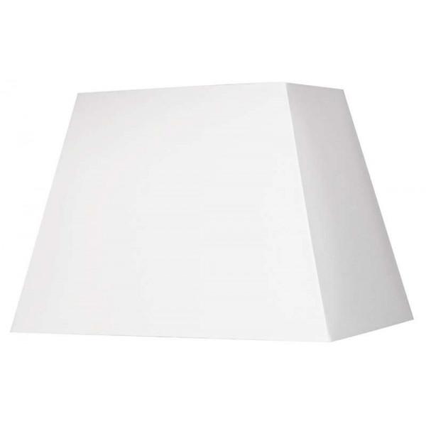 abat jour rectangle pyramide blanc