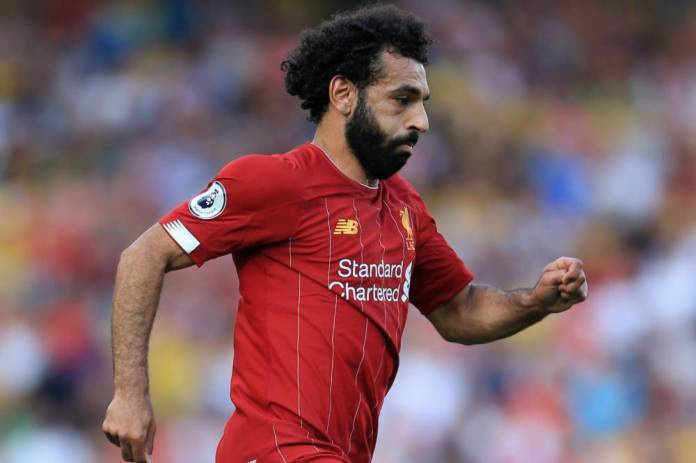 24th August 2019 - Premier League - Liverpool v Arsenal - Mohamed Salah of Liverpool - Photo: Simon Stacpoole / Offside. (Simon Stacpoole / OFFSIDE / PRESS / PRESS SPORTS)
