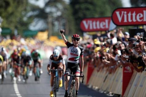 Cyclisme sur route - Cyclisme sur route - Dan Martin a pris un pari payant en attaquant dans l'ascension finale. ( Reuters)