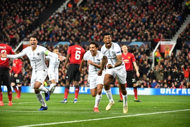 Football - Ligue des champions - Face à Manchester United, Presnel Kimpembe a inscrit le premier but de sa carrière chez les professionnels (P. Lahalle/L'Equipe)