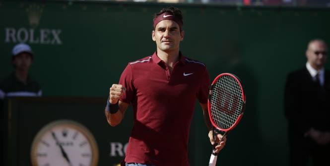 Une reprise solide pour Roger Federer. (Luttiau/L'Equipe)