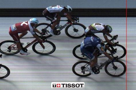 Cyclisme sur route - Tour de France - La photo-finish ultra serrée entre Kittel et Boasson-Hagen.