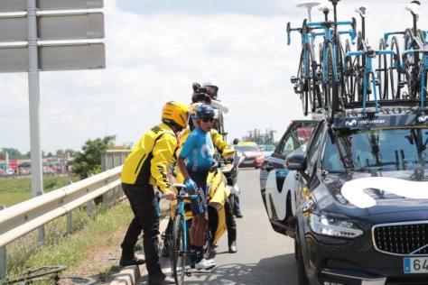 Cyclisme sur route - Cyclisme sur route - Nairo Quintana, un des perdants de la première étape. (F.Mons/L'Equipe)