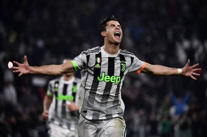 Cristiano Ronaldo is bursting with joy after scoring the second goal of Turin, on a penalty that he himself caused in the extra time. (Mr Bertorello / AFP) (The Team)