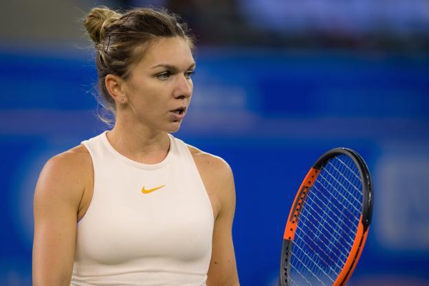 Tennis - - Simona Halep n'a pas pu finir son match, dimanche. (Presse sports)