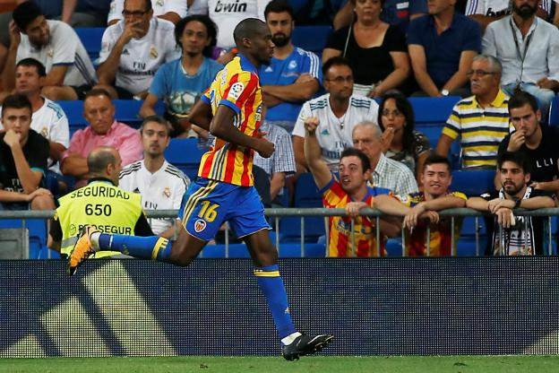Football - Championnat d'Espagne - Geoffrey Kondogbia a marqué contre le Real Madrid. (Reuters)
