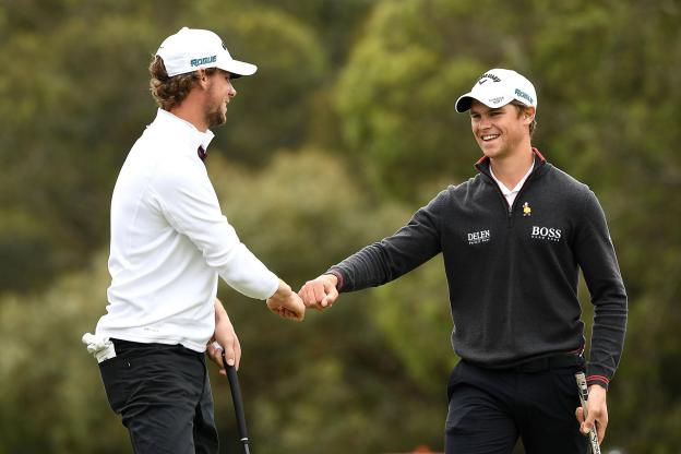 Golf - European Tour - Thomas Detry and Thomas Pieters can claim a first title in this team world cup for Belgium. (European Tour / Getty)