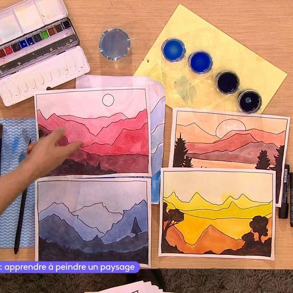 Apprendre A Peindre Un Paysage Video Arts Et Culture Lumni