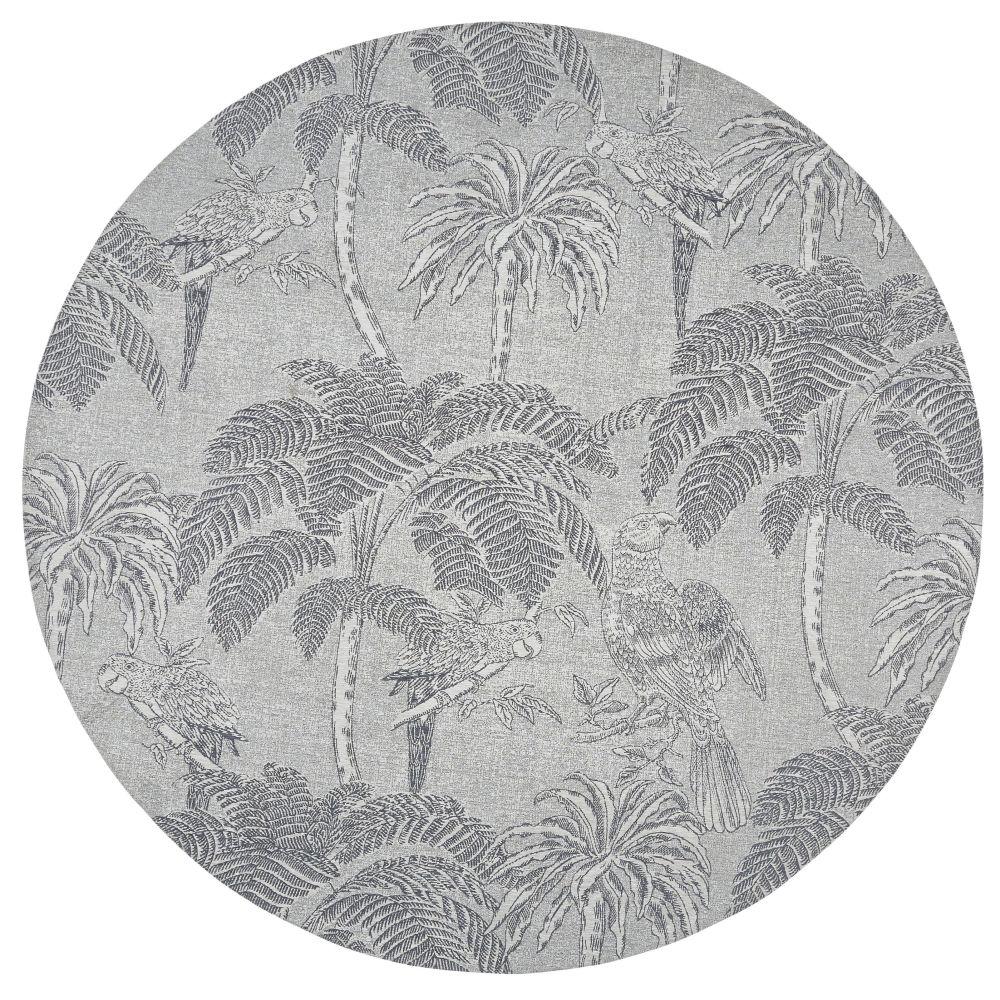 tapis rond gris