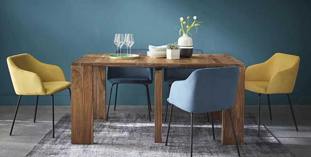 Table Console Extensible En Sheesham Massif 2 6 Personnes L40 160 Stockholm Maisons Du Monde