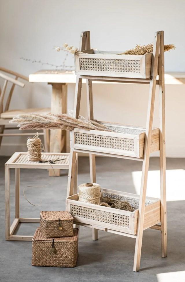 mueble almacenaje fibras naturales