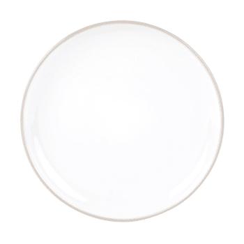 assiette a dessert en faience blanche et grise maisons du monde