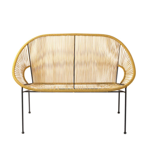 Rattan double chair