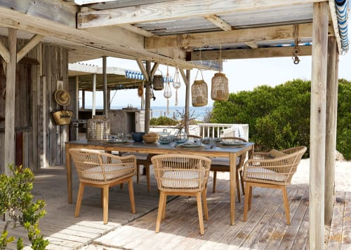 8 10 seater cement garden table w220 maisons du monde