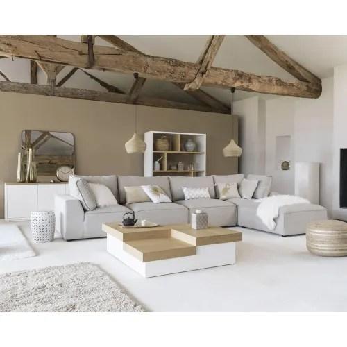 angle de canape en tissu beige maisons du monde