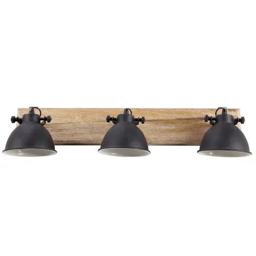 Applique 3 Lampes En Manguier Et Metal Noir L 73cm Murray Maisons Du Monde