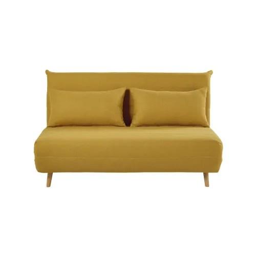 Ausklappbare 2 Sitzer Bettbank Senfgelb Nio Maisons Du Monde