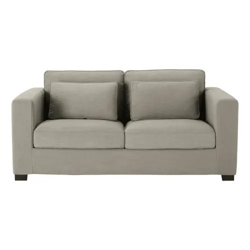 ausziehbares 2 3 sitzer sofa hellgrau matratze 12 cm maisons du monde