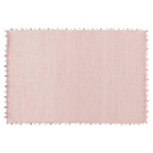 baumwollteppich mit quasten rosa 120x180 maisons du monde