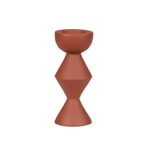 Bougeoir En Aluminium Terracotta Teza Maisons Du Monde