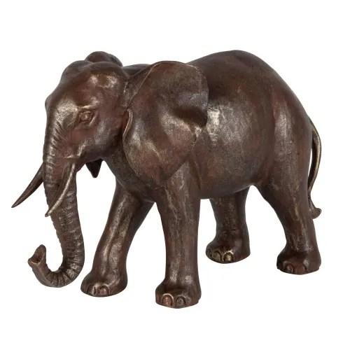 Brown Elephant Figurine H18 Issa Maisons Du Monde
