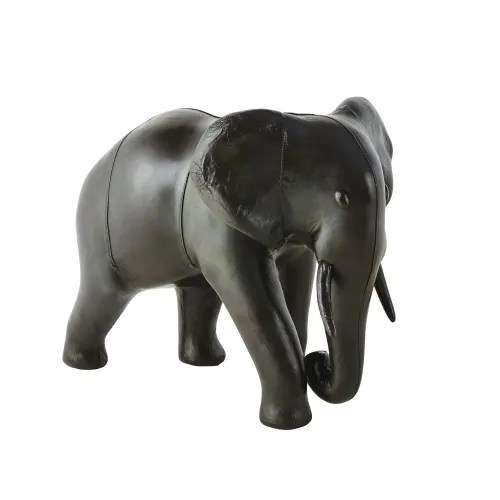 Brown Sheepskin Elephant Ornament H48 Asia Maisons Du Monde