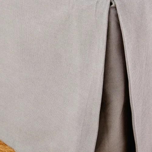 cache sommier 180x200 en coton gris maisons du monde