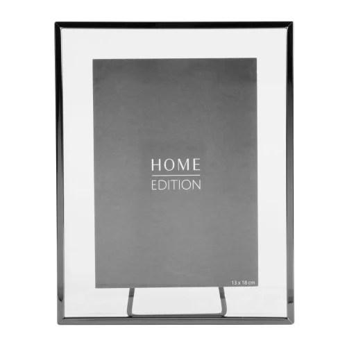 cadre photo en verre et metal noir et argente 13x18 maisons du monde
