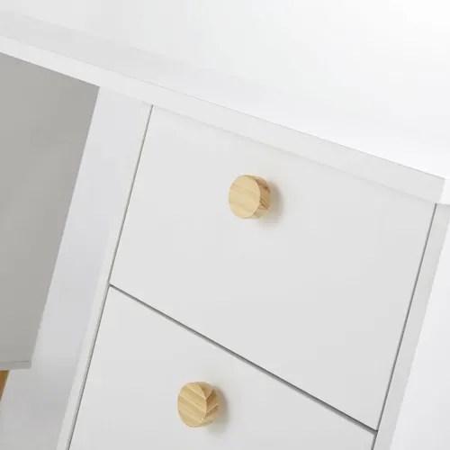 caisson pour bureau modulable 3 tiroirs blanc maisons du monde