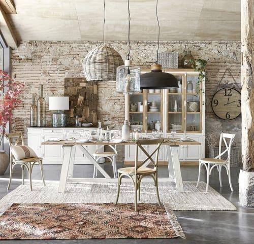 Chaise Bistrot En Rotin Et Bouleau Tradition Maisons Du Monde