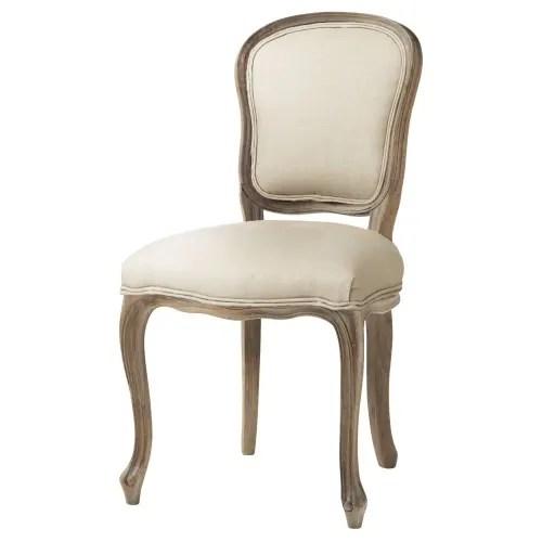 chaise en lin coloris lin maisons du monde