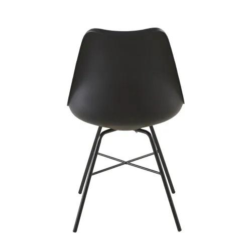 chaise noire et pieds en metal noir maisons du monde