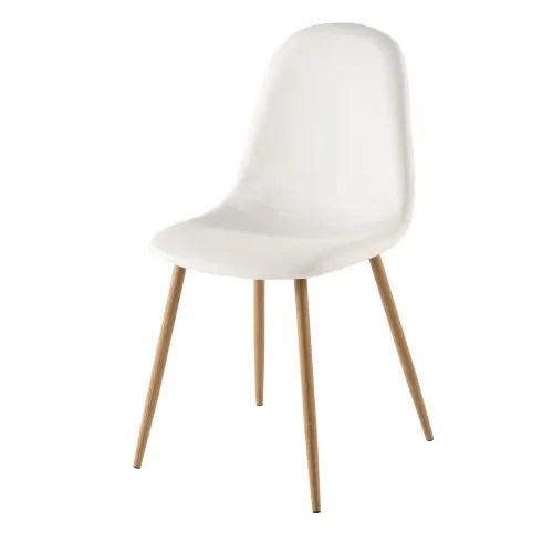 chaise style scandinave blanche maisons du monde