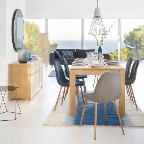chaise style scandinave bleu jean maisons du monde