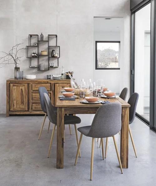 chaise style scandinave grise maisons du monde