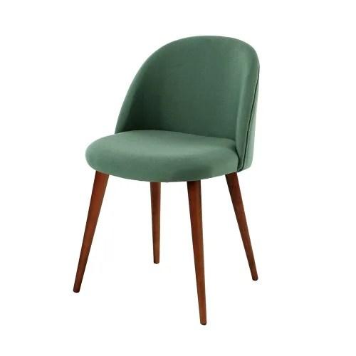 chaise vintage verte et bouleau massif maisons du monde