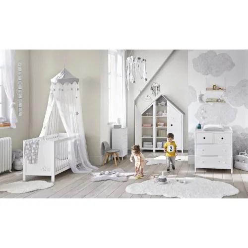 ciel de lit enfant blanc et gris maisons du monde