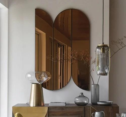 Coppery Metal Mirrors 81x122 X3 Gerry Maisons Du Monde