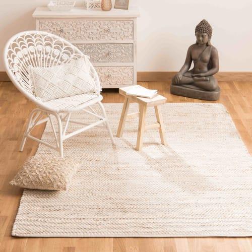 cotton and jute rug 160 x 230 maisons du monde