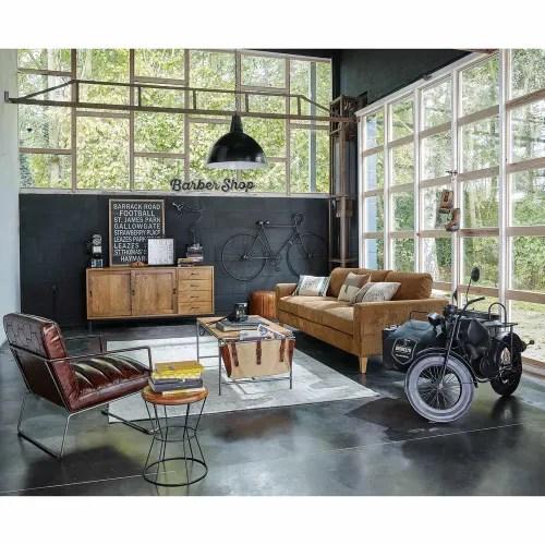 deco murale velo en metal noir 186x108 maisons du monde