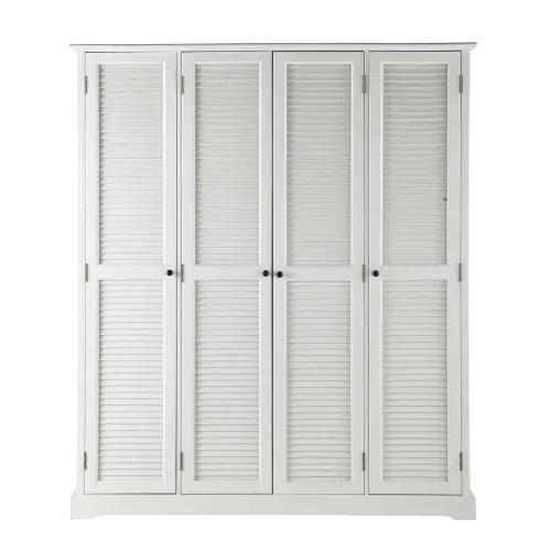 Dressing Blanc 4 Portes Barbade Maisons Du Monde