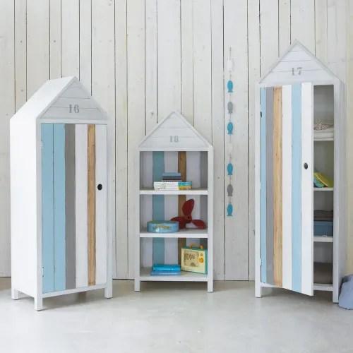 dressing cabine de plage 1 porte blanche maisons du monde