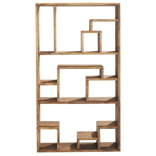 etagere destructuree en sheesham massif maisons du monde